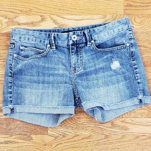 Calvin Klein Distressed Jean Shorts Size 6 (28)